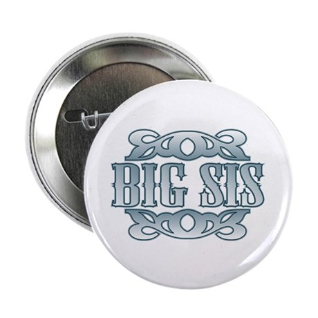"""Big Sister Silver Buckle 2.25"""" Button (100 pack)"""