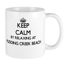 Keep calm by relaxing at Pudding Creek Beach Mugs