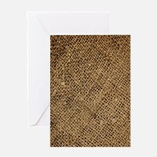 shabby chic country burlap Greeting Cards