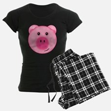 Cute Smiling Pink Country Farm Pig Pajamas
