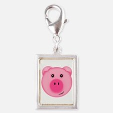 Cute Smiling Pink Country Farm Pig Charms