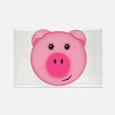 Cute Smiling Pink Country Farm Pig Magnets