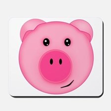 Cute Smiling Pink Country Farm Pig Mousepad