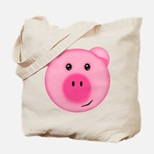 Cute Smiling Pink Country Farm Pig Tote Bag