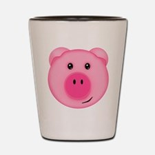 Cute Smiling Pink Country Farm Pig Shot Glass