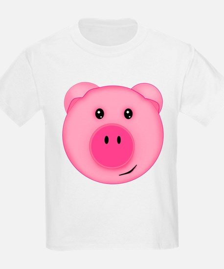 Cute Smiling Pink Country Farm Pig T-Shirt