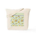 Bee Dance Floral Tote Bag