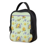 Bee Dance Floral Neoprene Lunch Bag