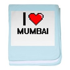 I love Mumbai Digital Design baby blanket
