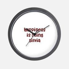 happiness is being Silvia Wall Clock
