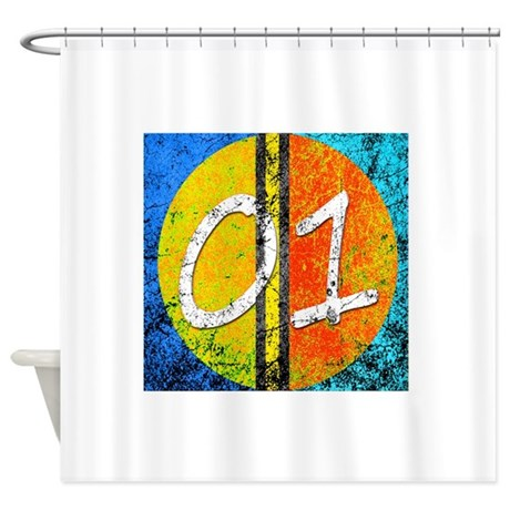 Number One Orange Yellow Blue Shower Curtain By Admin CP129519821