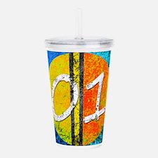 Number One Orange Yell Acrylic Double-wall Tumbler