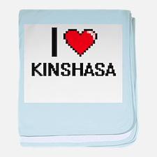 I love Kinshasa Digital Design baby blanket