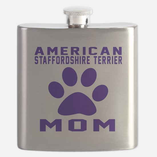 American Staffordshire Terrier mom designs Flask