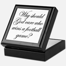 Why Should God Cares Who Wins a Footb Keepsake Box