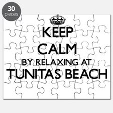 Keep calm by relaxing at Tunitas Beach Cali Puzzle