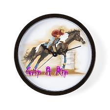 Grip & Rip, Barrel racer Wall Clock