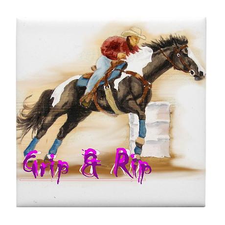 Grip & Rip, Barrel racer Tile Coaster
