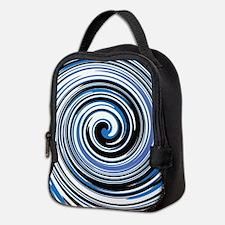 Black and blue swirl design Neoprene Lunch Bag