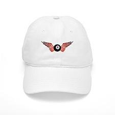 winged 8ball Baseball Baseball Cap