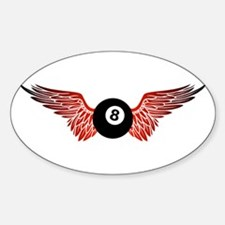 winged 8ball Decal