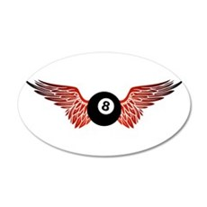 winged 8ball Wall Decal