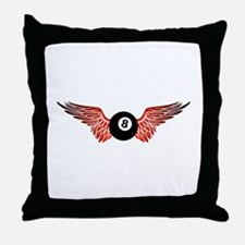 winged 8ball Throw Pillow