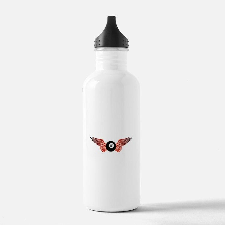 winged 8ball Water Bottle