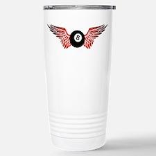 winged 8ball Travel Mug