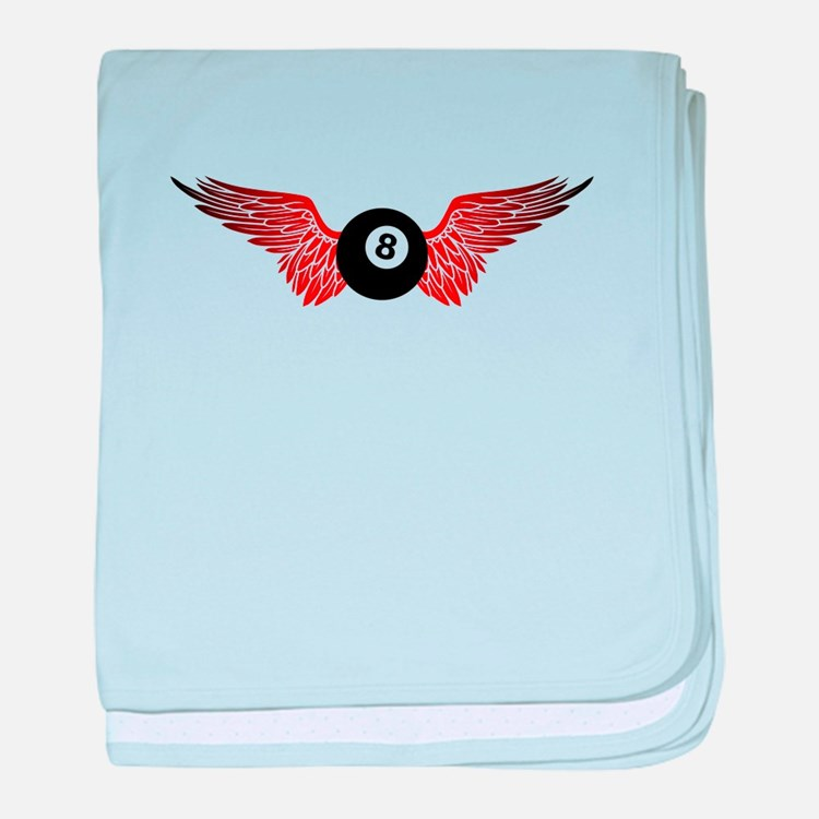 winged 8ball baby blanket