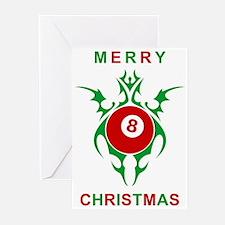merry christmas eightball Greeting Cards