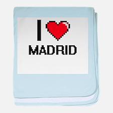 I love Madrid Digital Design baby blanket