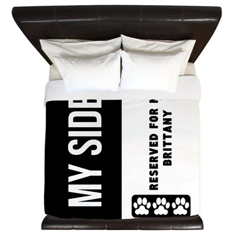 Reserved For My Brittany King Duvet By Dogduvets