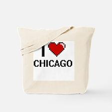 I love Chicago Digital Design Tote Bag