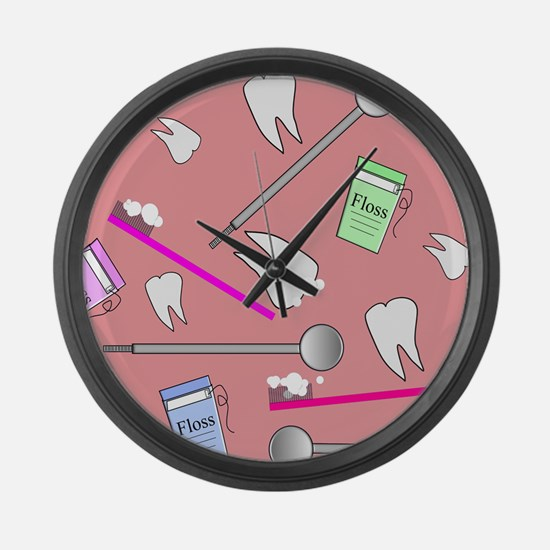 Dental Tools Large Wall Clock