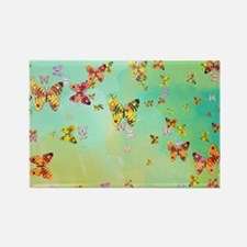 Butterflies on springtime Magnets