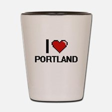 I love Portland Digital Design Shot Glass