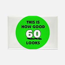 60th Birthday - Happy Birthda Rectangle Magnet