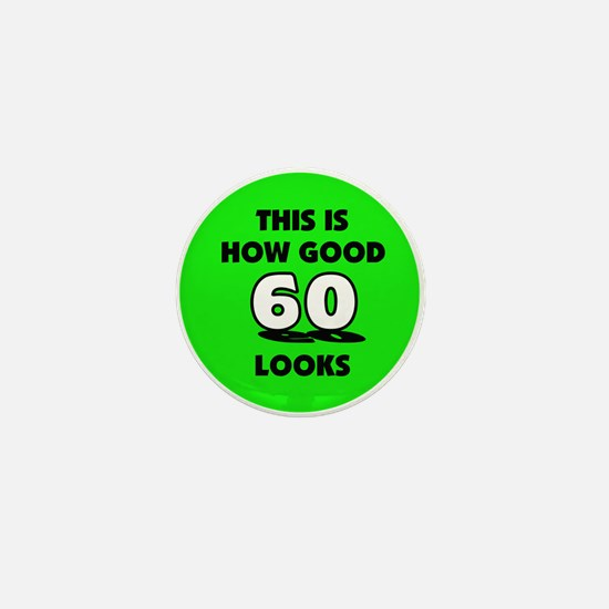 60th Birthday - Happy Birthda Mini Button