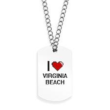 I love Virginia Beach Digital Design Dog Tags