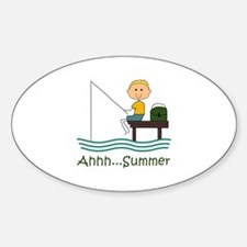 AHHH SUMMER FISHING Decal