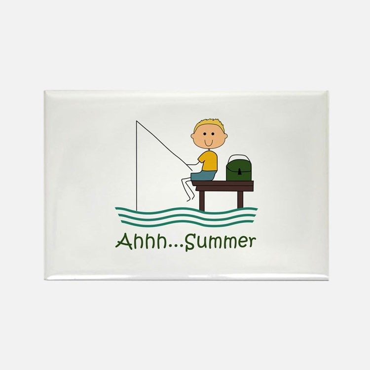 AHHH SUMMER FISHING Magnets