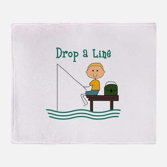 DROP A LINE Throw Blanket