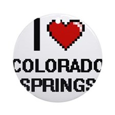 I love Colorado Springs Digital Des Round Ornament