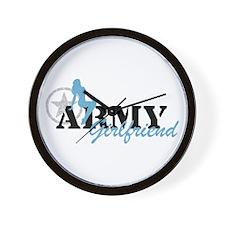 Sexy ARMY Girlfriend - Blue Wall Clock