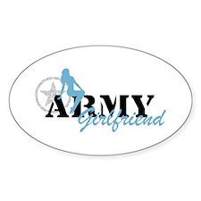 Sexy ARMY Girlfriend - Blue Oval Bumper Stickers