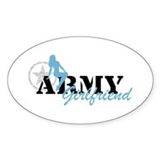 Sexy ARMY Girlfriend - Blue Oval Decal