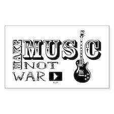 Make Music, Not War Rectangle Decal