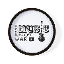Make Music, Not War Wall Clock