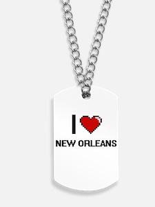 I love New Orleans Digital Design Dog Tags